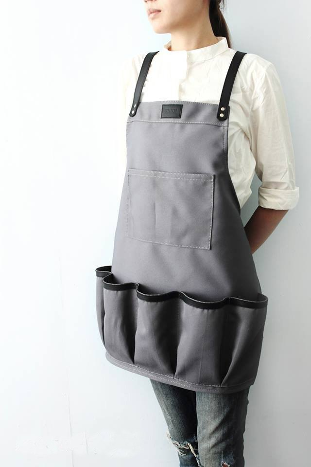 KAKU handmade leather work apron custom