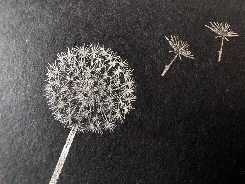 Dandelion fluff Stamp set of 2