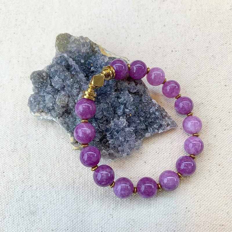 LOOPORIGINAL purple jade brass bracelet