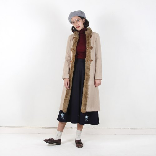 Vintage】 【egg plant 20 years old vintage disc buckle Vintage coat