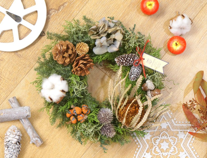 Handmade Nordic Wind Fog Forest Christmas Wreath (Christmas Arrangement / Photo Props / Storefront Arrangement)