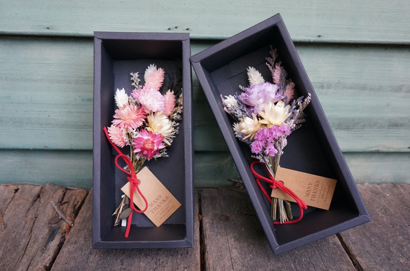 Carnation bouquet gift box without withered flowers, dry flower bouquet, mother Christmas