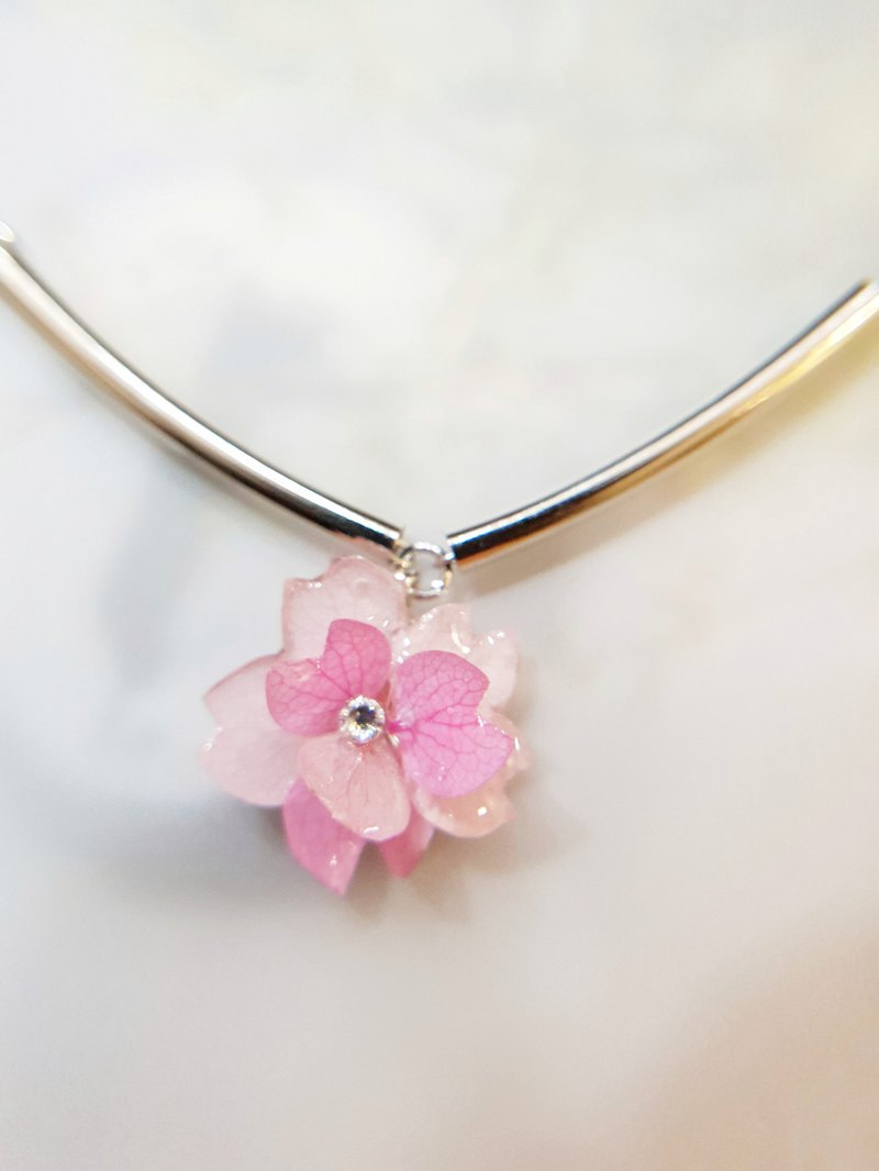Cherry Blossom Series ~~ Real Flower Jewelry Necklace