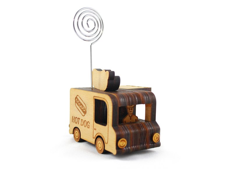 Fast food car--three-dimensional shape convenience folder/office/healing small things/logs/woodwork/gift/custom
