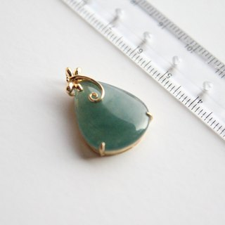 Journal-蜻蜓点水冰蓝老坑料天然天然翠翠(Burmese jade) 18K gold necklace pendant