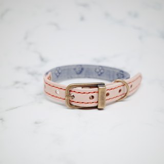 Dog collars, S size, cowboy style, light blue_DCT090423