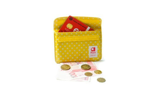 Mizutama pocket Card holder - Yellow