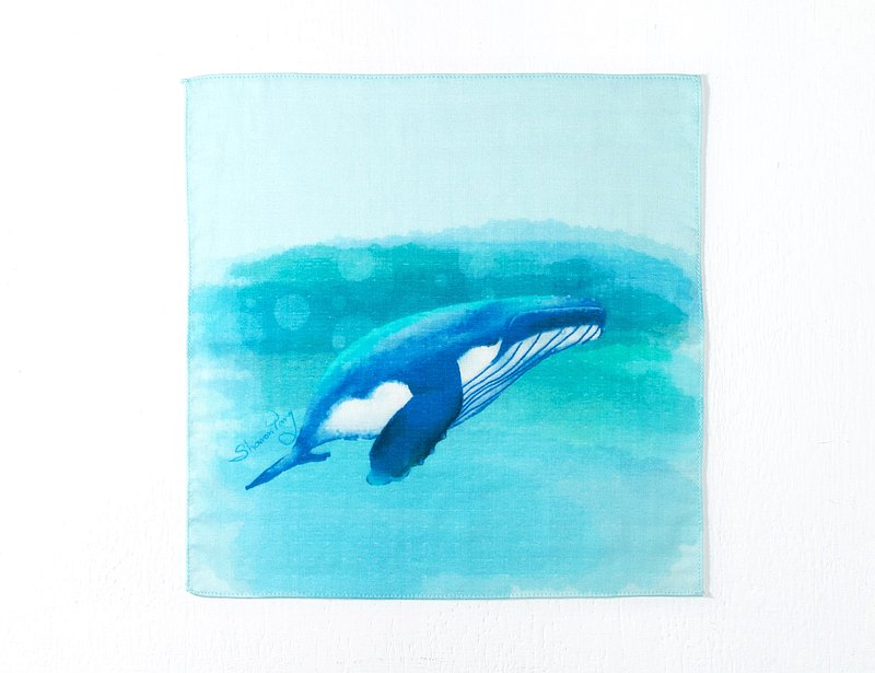 Welfare products_blue whale towel