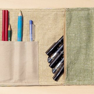 Hand-painted rendering Pencil / feel Reel / spring rolls Pencil - Pen water color house 1 (blue strap)