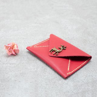 Be Two ∣ Envelope Business Card Holder / Card Leather Case / Hand Stitching Buckle _ (You Design)