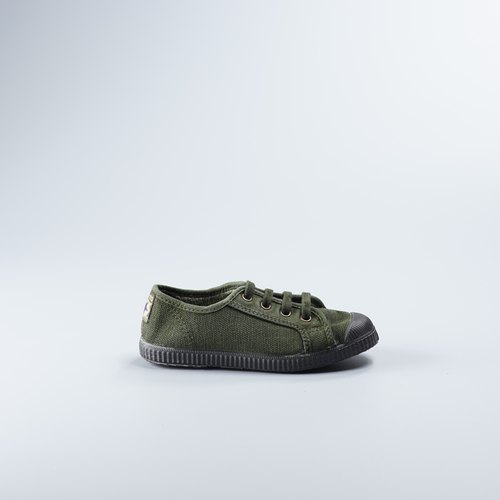 Spanish national canvas shoes autumn and winter series CIENTA 974777 22 dark green children's shoes size
