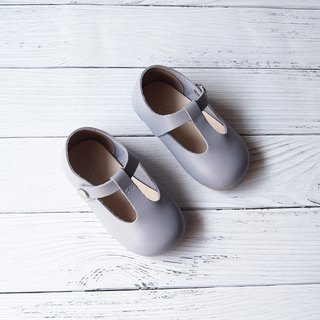 Toddler Girl Shoes, Gray Baby Girl Shoes, Grey Mary Jane, Leather Baby Shoes