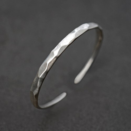 Mountain sterling silver solid opening bracelet VISHI original design s925 simple irregular bracelet neutral female