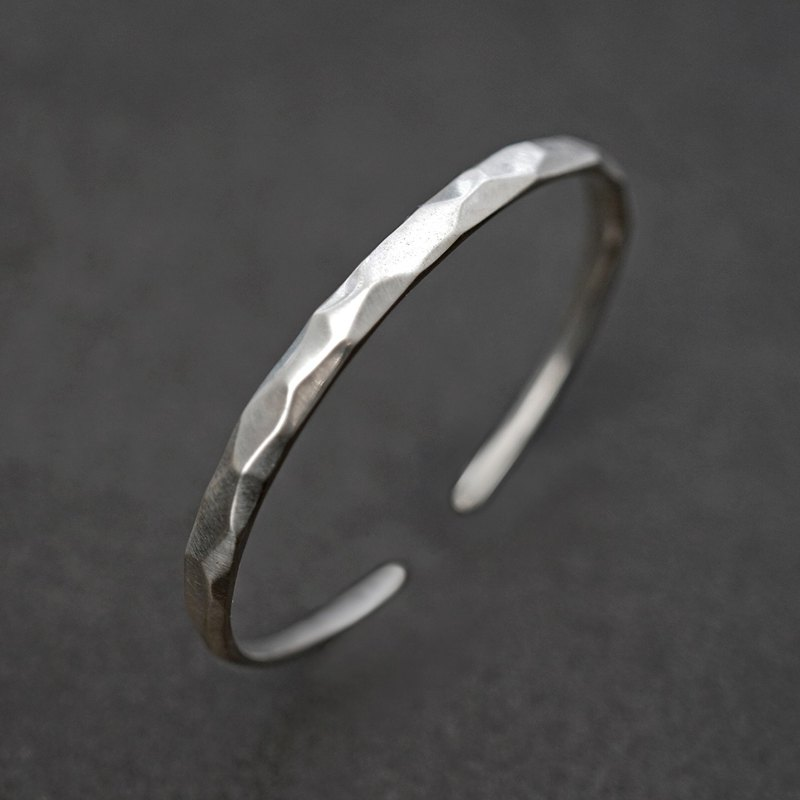Mountain sterling silver solid opening bracelets VISHI original s925 simple irregular bracelet neutral female
