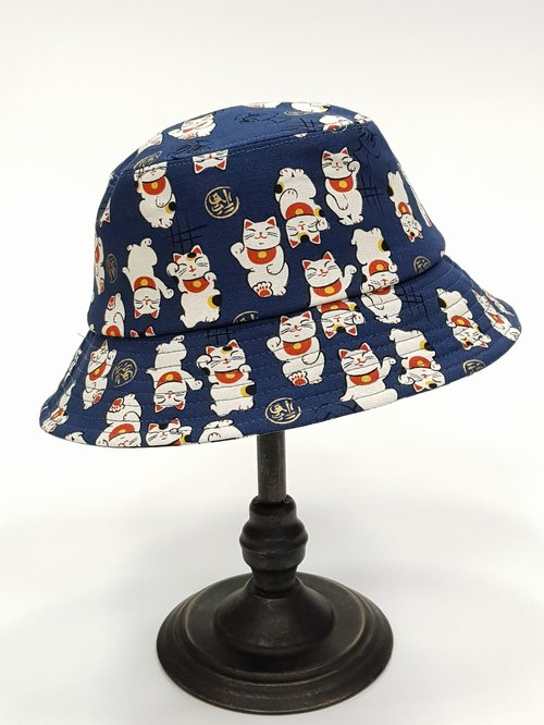 Classic Fisherman Hat - [Lucky Cat] # Street Wenqing # Four Seasons Good Partner # Fisherman Hat