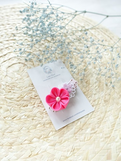 Children headdress. And the wind flower hairpin / Liuhai folder hair ornaments (pink)