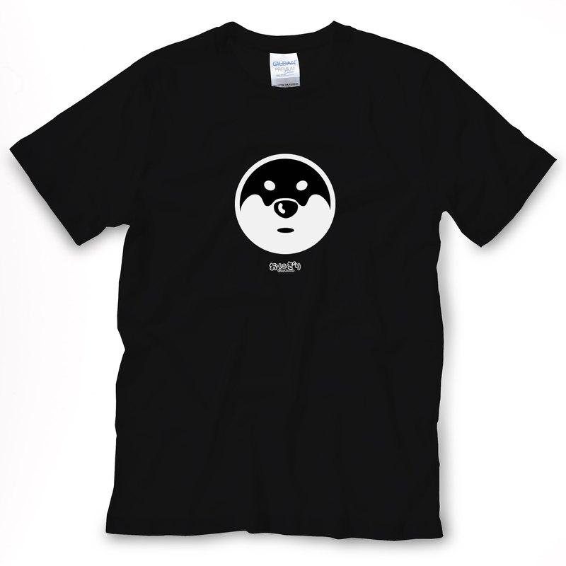 小飯糰 中性T恤 劍道神秘柴 黑色短T