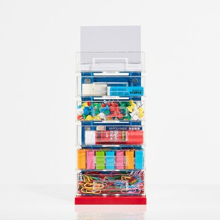 Magnetic Office Supplies Organizer - 6 Tier - Silver
