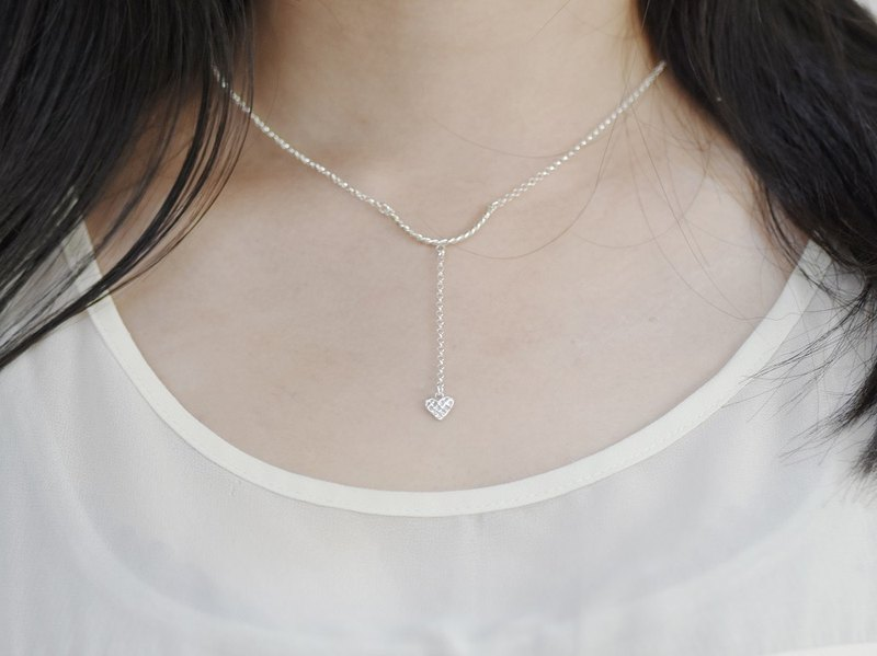 Heart 。arrow (925 sterling silver necklace) - C percent handmade jewelry