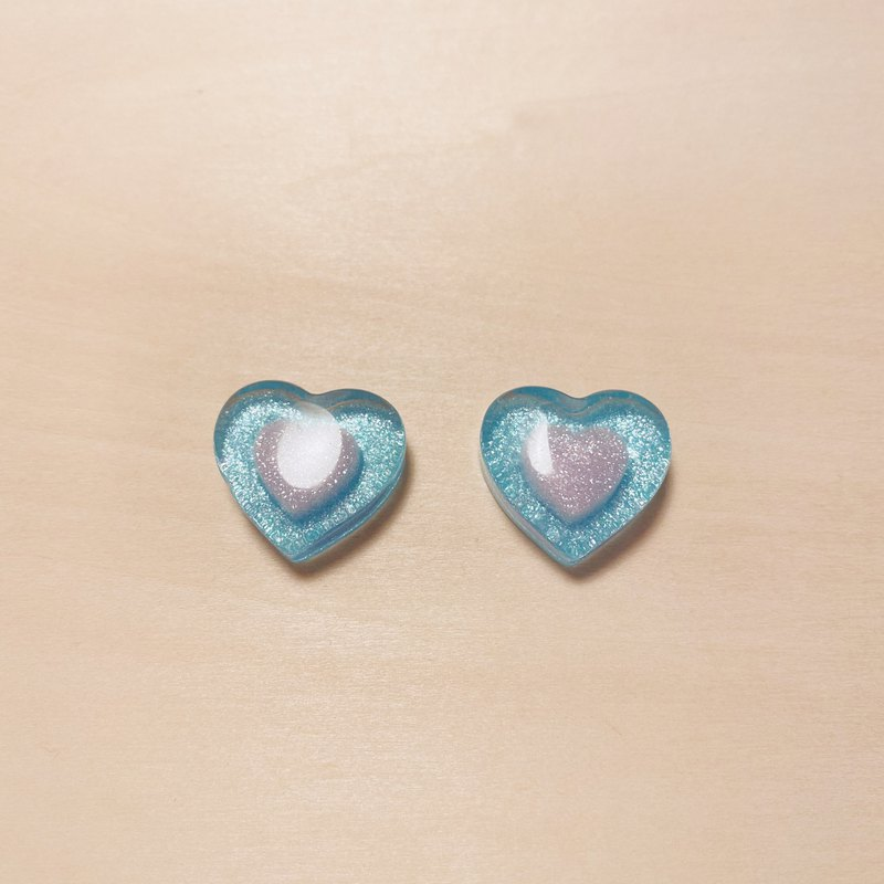 Vintage blue candy love earrings