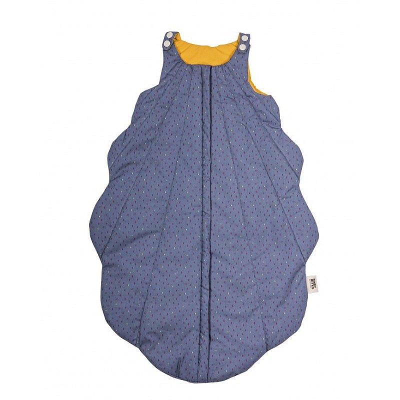 BabyBites鯊魚咬一口 純棉睡袋-海底藍貝殼