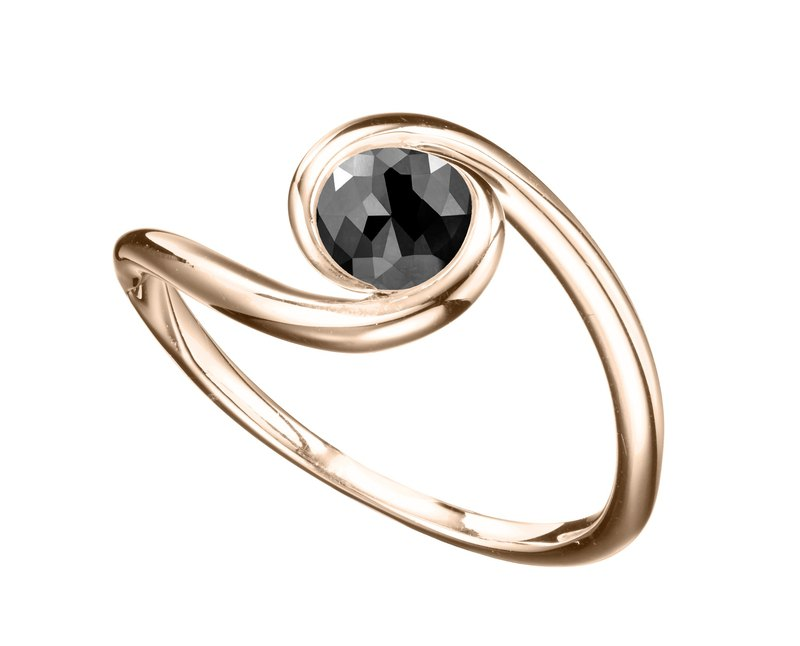 14k gold black toumaline ring. Black tourmaline engagement and wedding ring
