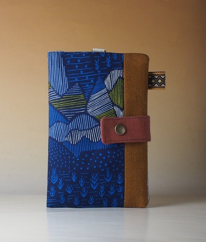 Guest set: multi-function passport folder / long cloth clip*between the landscape - organic cotton*two