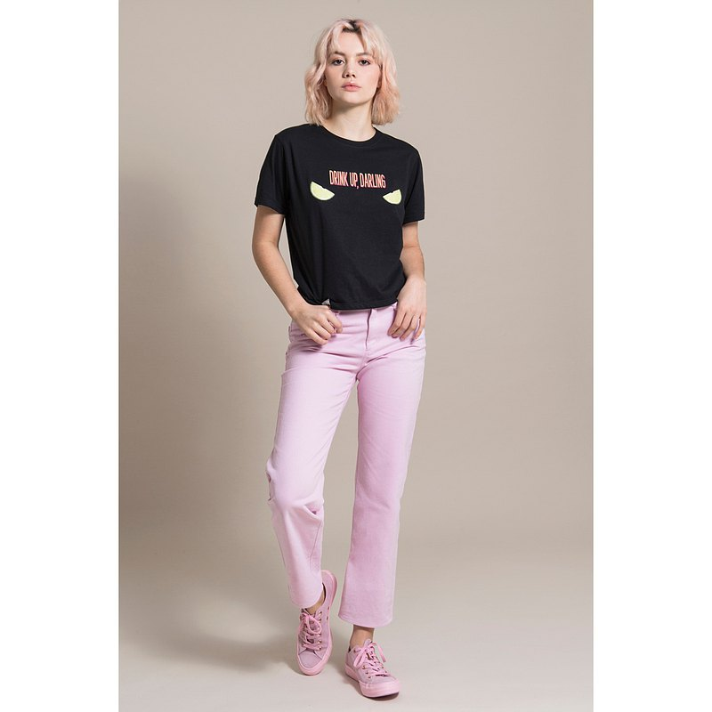 Sustainable Moms Jeans In Pink