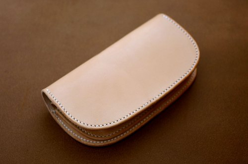 Natural leather wallet Left / right inversion type