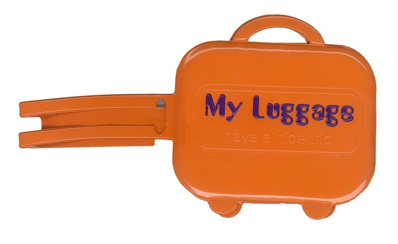 Alfalfa My luggage Luggage tag(Orange)