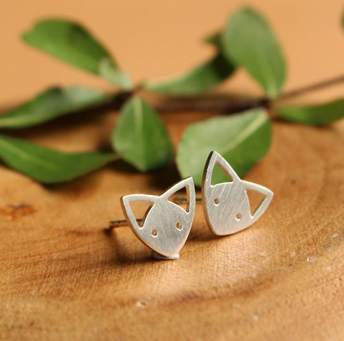 Super Cute Fox - Silver Earrings / Sterling Silver / Animal Earrings / Earrings