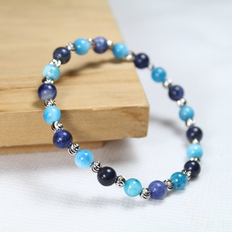 Apatite, sodalite, sea-waves
