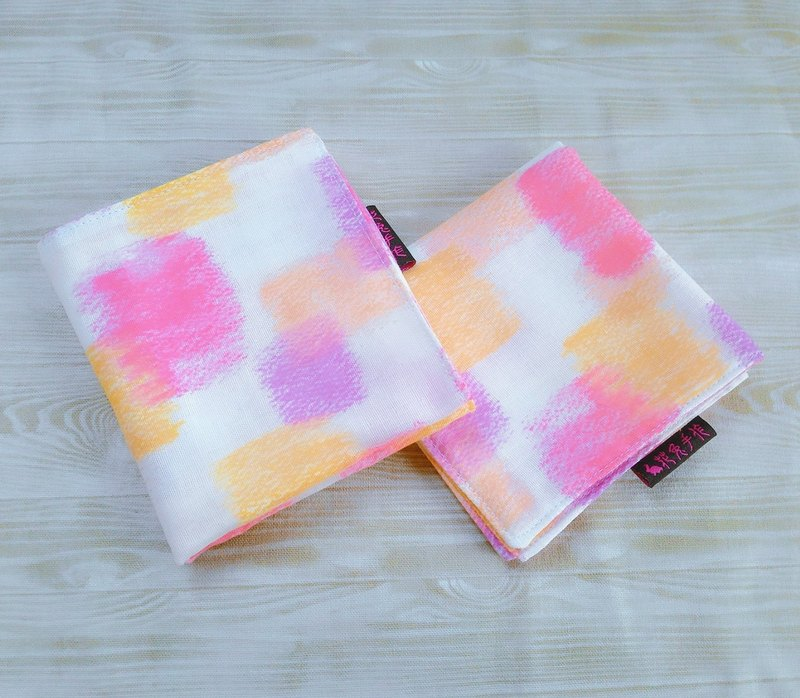 Crayon box ● Japanese double yarn double-sided handkerchief small square