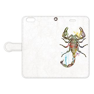 [Notebook type iPhone case] scorpion