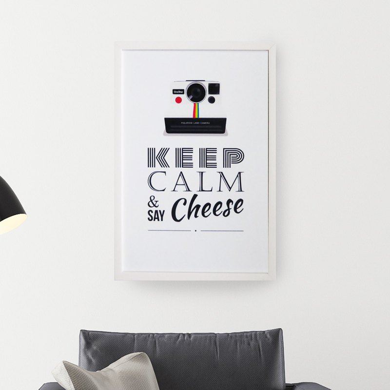 Magnet plate Say Cheese Give yourself a smile hanging mural room decoration living room decoration
