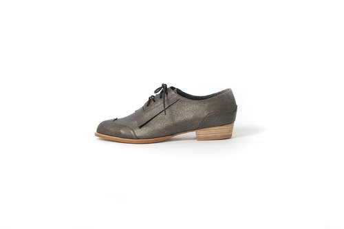 ZOODY / sailor / hand shoes / flat Oxford shoes / black silver