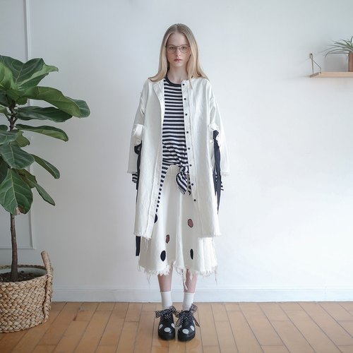 White denim jacket long coat - imakokoni