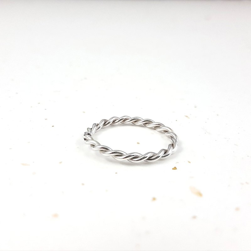 Silver Love, Classic Twisted Silver Ring, One Day Handmade Experience, Tainan, Kaohsiung
