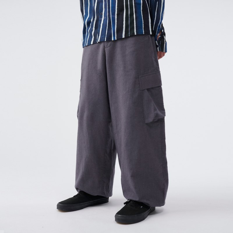 TRAN - Worker Pants-Gray