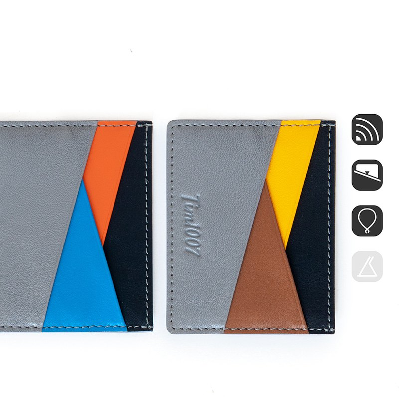 Mix 7 card leather card holder business card holder can be matched with lanyard
