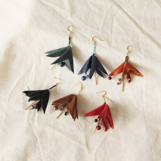 Febbi Lily Single Ear Cowhide Earrings