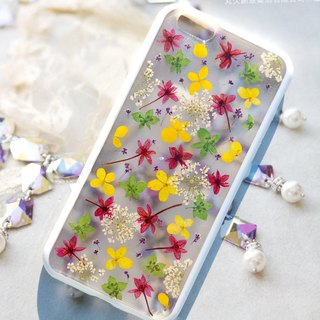 Pressed flowers phone case, Fit for iPhone 6, iPhone 6s, The little flowers
