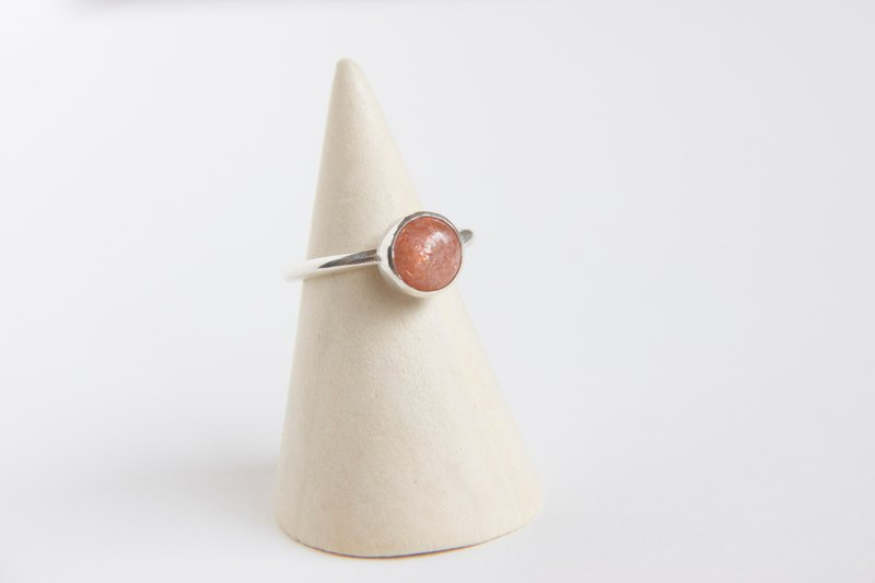 Sterling Silver Sunstone Ring-1 /Free Size