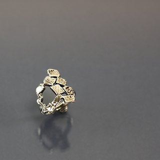 Square shape 925 silver ring