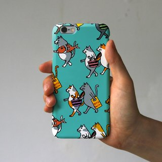 IPhone case cats (turquoise)