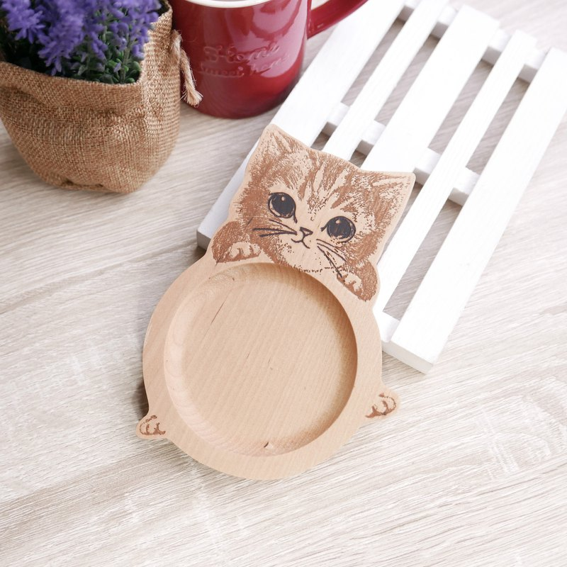 Little tabby cat coaster