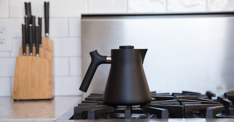 [FELLOW] RAVEN stainless steel temperature measuring teapot [matte black]