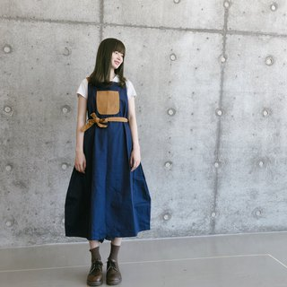 My Treasure Bag Japanese Worker Skirt | Dark Blue