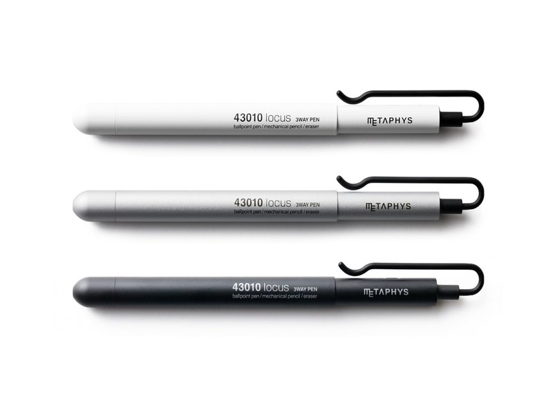 3way pen 消しゴムセット locous 3way pen&viss set