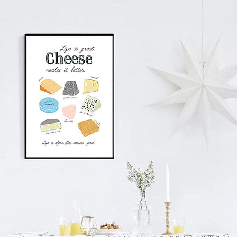 Life is Great with Cheese-Kitchen Decoration / Home Decor / Studio
